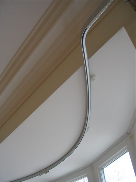 Straight Railing Curtain For Bay Window